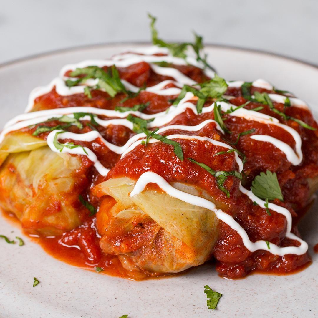 Stuffed Cabbage Rolls Recipe Recipes Cabbage Rolls Food