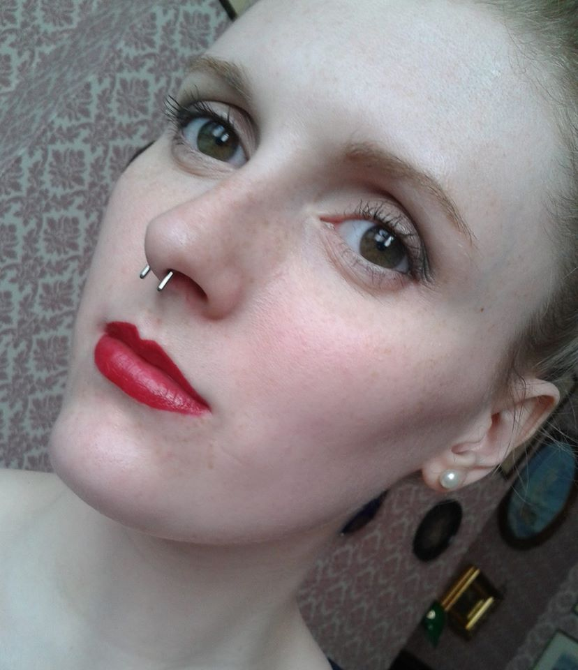 Brand Spanko New Septum Piercing Just Fitted With A Retainer Bar