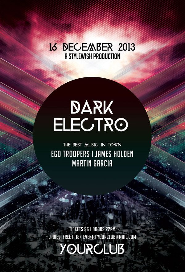 Dark Electro Flyer by styleWish on Graphicriver PSD Template – Electro Flyer