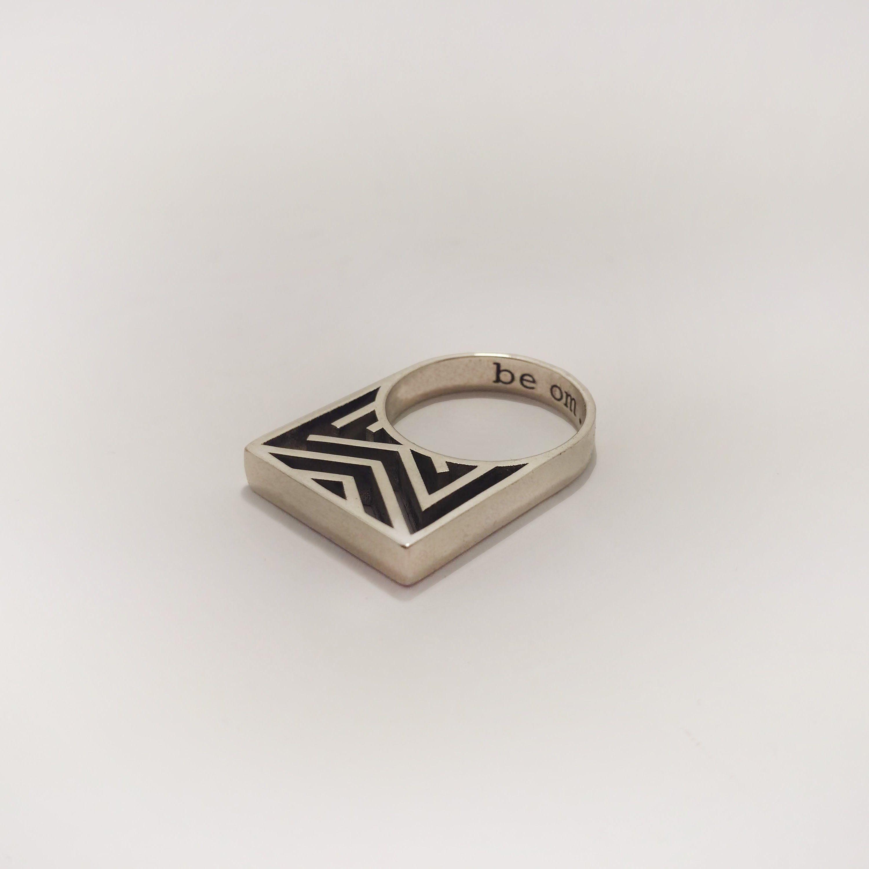 Esty /& Me Mens Cross Ring in Sterling Silver