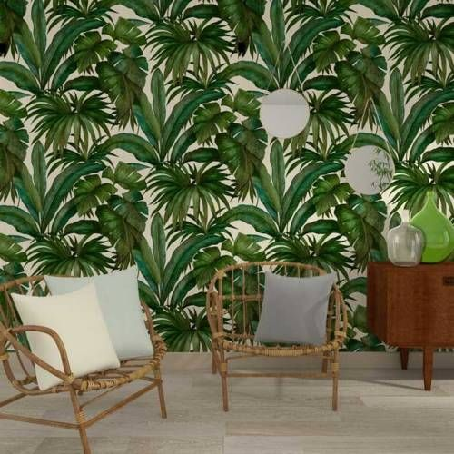 papier peint jardin tropical vintage 96240 5 a s cr ation versace 2 jardins tropicaux. Black Bedroom Furniture Sets. Home Design Ideas