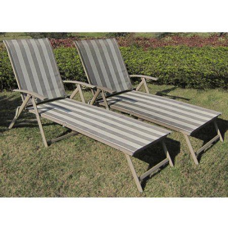 Fair Park Sling Folding Lounge Chairs