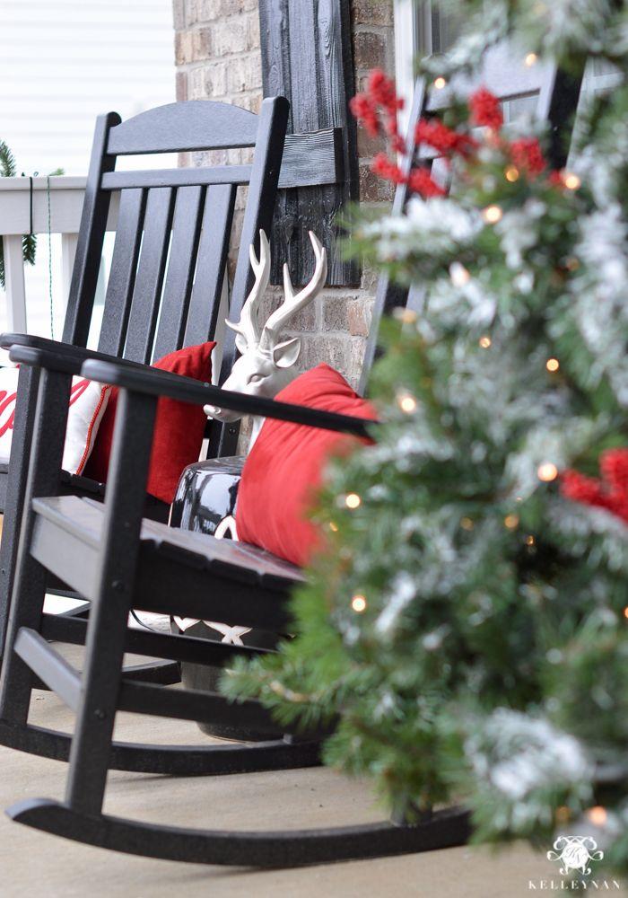 Holiday Home Showcase 2016 Christmas Home Tour Kelley Nan Rocking Chair Porch Rocking Chair Christmas Porch