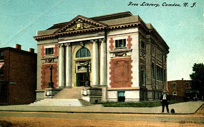 Library Postcards 1910 Free Library Camden New Jersey Camden New Jersey New Jersey Camden