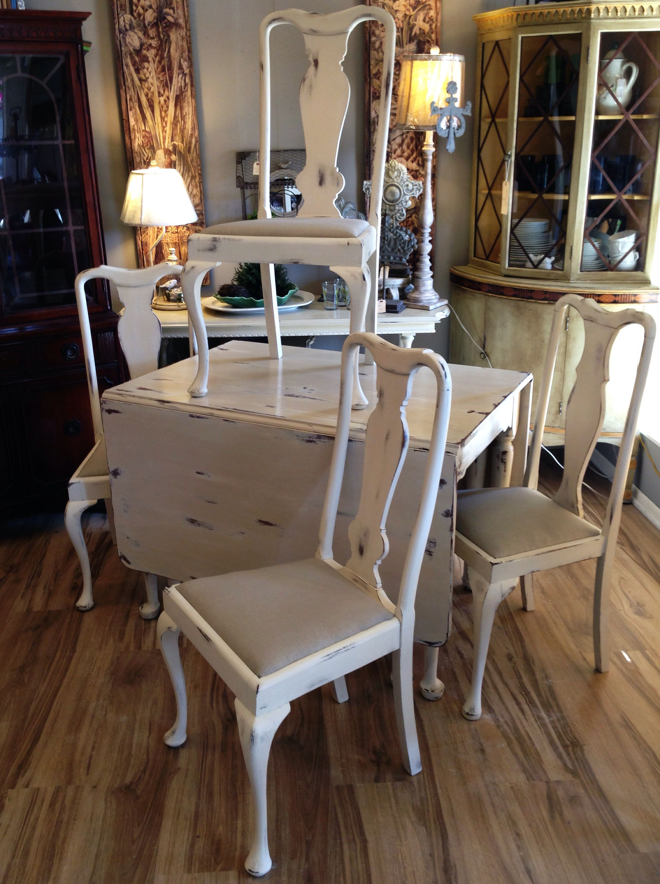solid cherry drop leaf table and hand made chairs painted in a solid cherry drop leaf table and hand made chairs painted in a distressed soft rustic