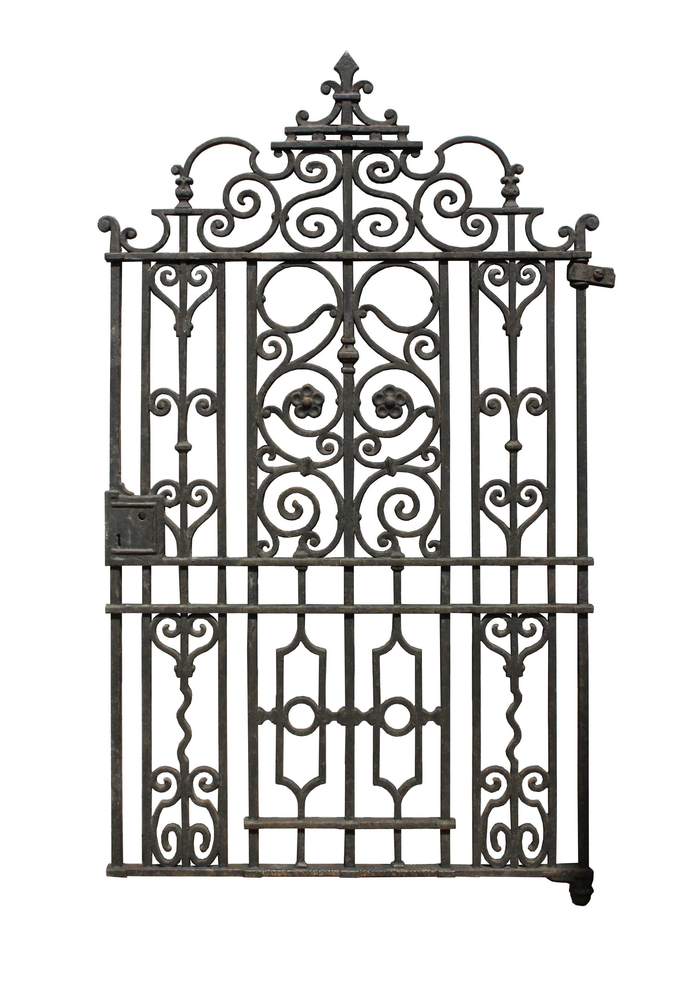 Victorian Cast Iron Side Gate With Post Uk Architectural Heritage Side Gates Wrought Iron Fences Architectural Antiques