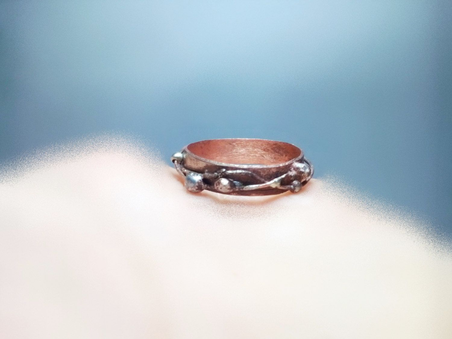 Copper and 925 Silver Thumb Ring Copper Band Ring for Thumb Copper ...