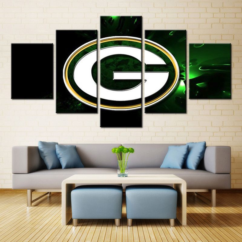 Green Bay Packers Wall Art Canvas Art Wall Decor Wall Art Pictures Colorful Wall Hanging