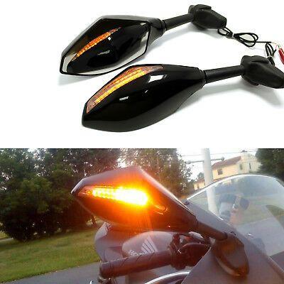 Sponsored Ebay Motorcycle Bikes Led Turn Signal Mirrors For Suzuki Gsxr1000 Hayabusa Gsx1300r