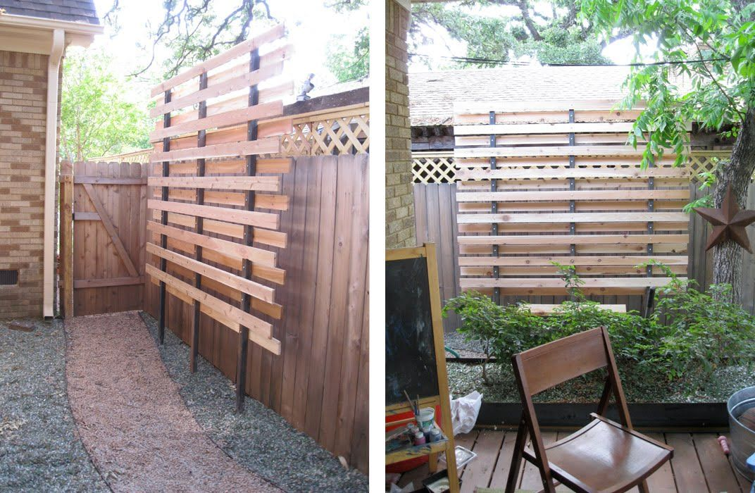 Privacy screen for side yard where fencing isn 39 t tall for Small outdoor privacy screen