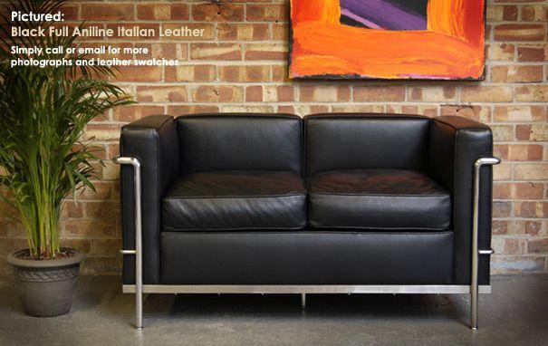 Le Petit Confort 2 Seater Sofa Lc2 By Le Corbusier Designer Sofas With Images Sofa Modernist Furniture Sofa Design