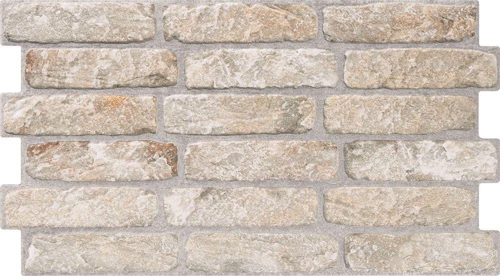 Beige Brick Effect Tiles | Walls and Floors | Living room | Pinterest