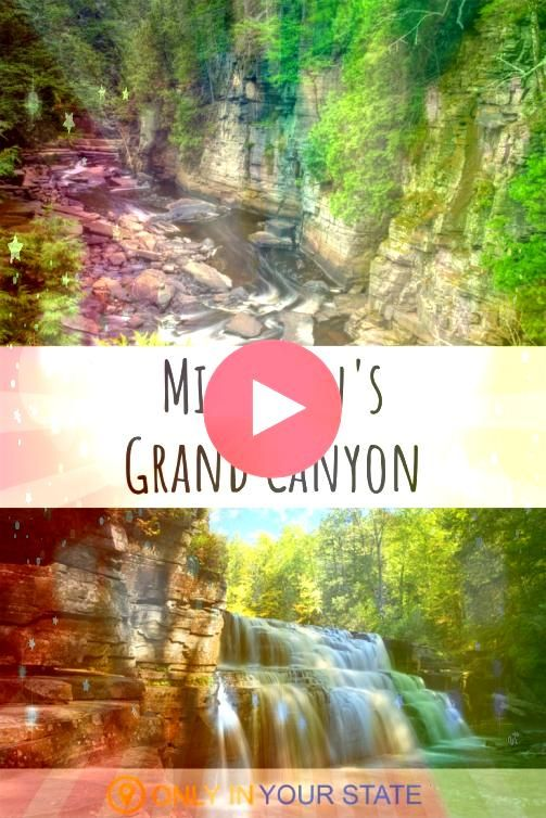 is home to its very own Grand Canyon Canyon Falls and Gorge in the Upper Peninsula is breathtakingly beautiful and you can visit  Michigan Hiking  Trails  Nature  Waterfa...