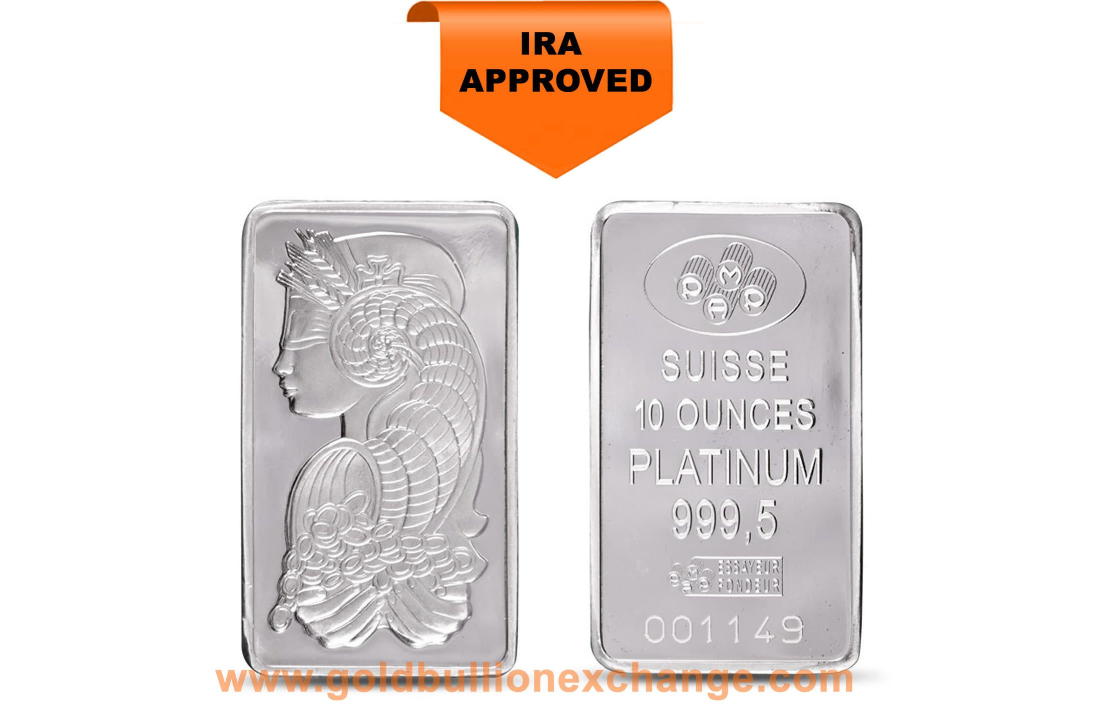 Pamp Suisse Platinum Bar 10 Oz 999 Fine Platinum 10 Things