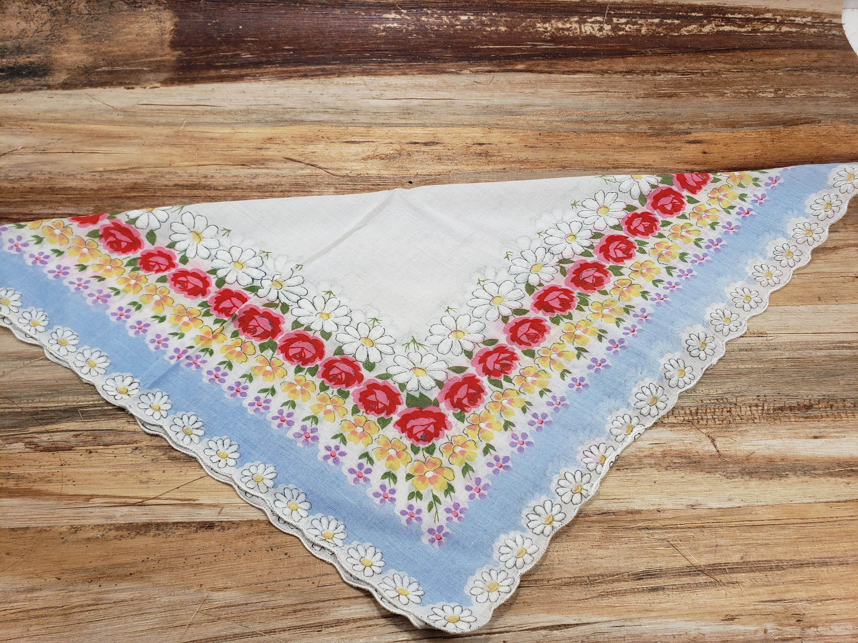 bridal hankie 1950s vintage hankie Vintage Handkerchief