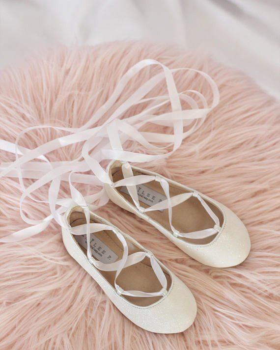 Flower girl shoes, Girls ballet shoes