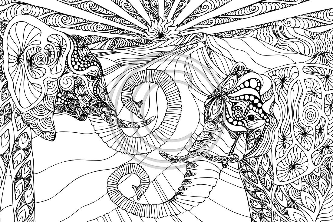 Elephant Mandala Coloring Pages Collection Free Coloring ...