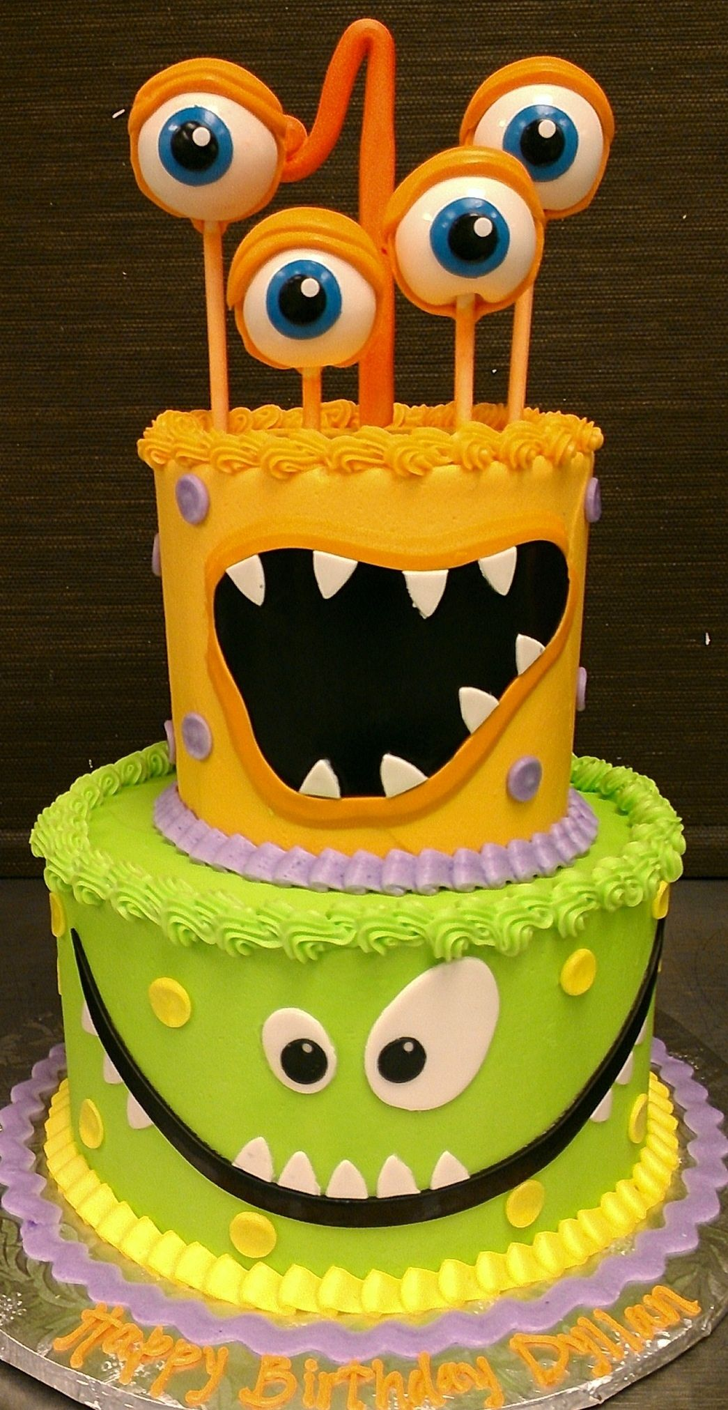 Cake Design For 5 Year Old Boy : Monster birthday cake Children Birthday Cakes ...