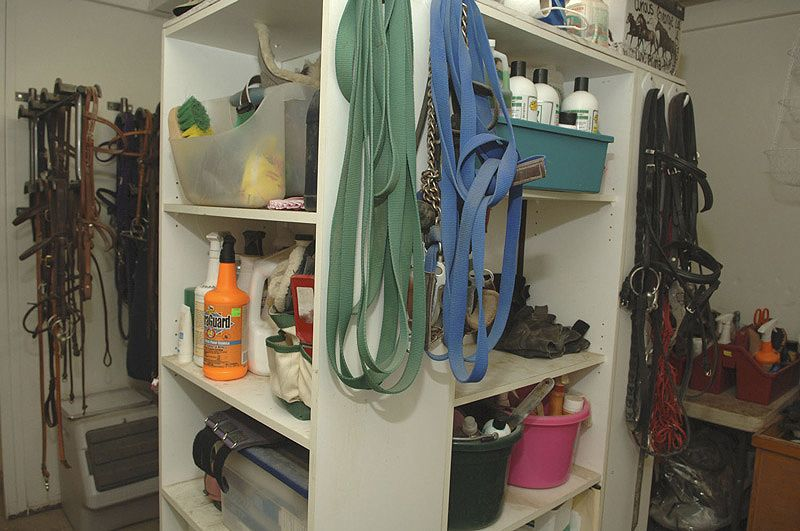 Tack Room Storage Ideas | Tack Room. Photo Cappy Jackson