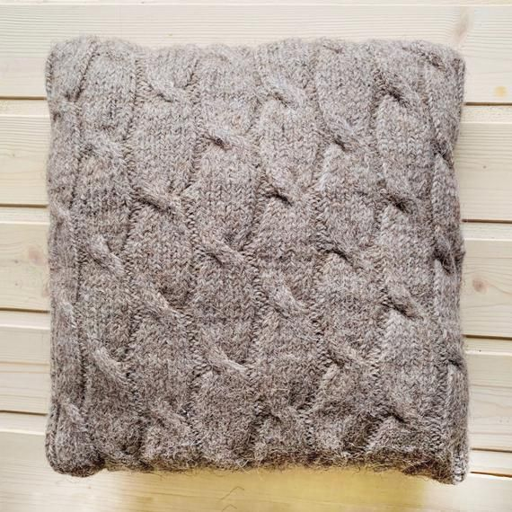 Handknitted beige Decorative Knitted Pillow Knit Pillow Case Throw Pillow Cushion Knit Cushi Handknitted beige Decorative Knitted Pillow Knit Pillow Case Throw Pillow Cus...