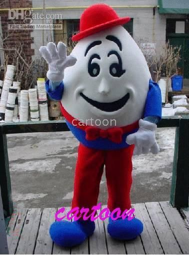 Wholesale Humpty Dumpty Mascot Costume Party Supply Adult Size !free - halloween decoration rentals