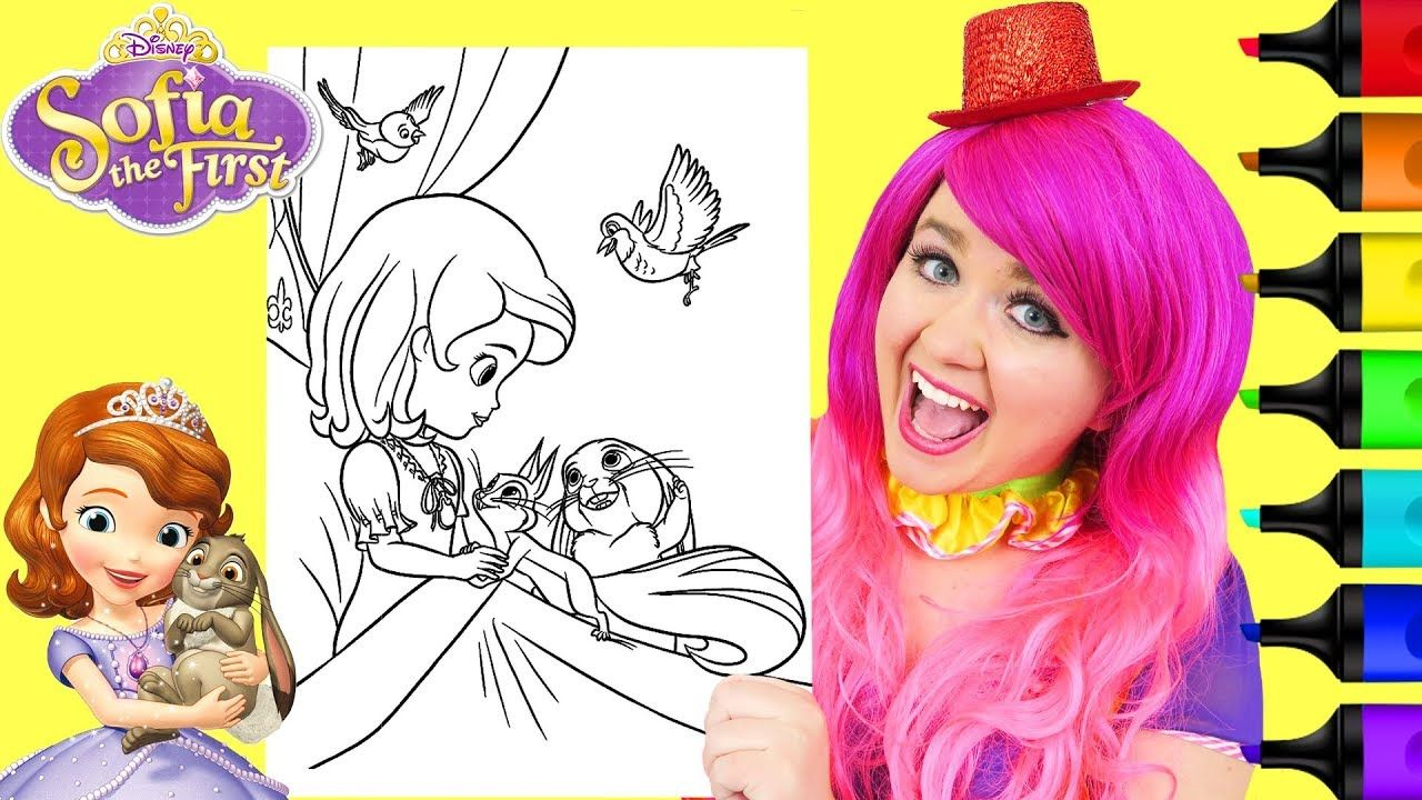 Coloring Sofia The First Animals Disney Coloring Page Prismacolor Mark Disney Coloring Pages Disney Colors Crayola Coloring Pages