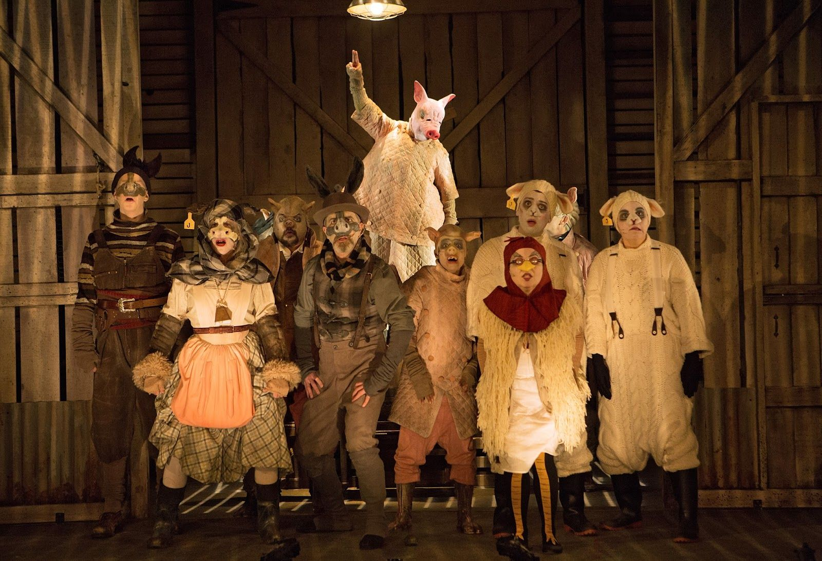 James Karas Reviews And Views Animal Farm Review Of Soulpepper S Production Of Orwell S Fable Farm Animals Orwell Animals