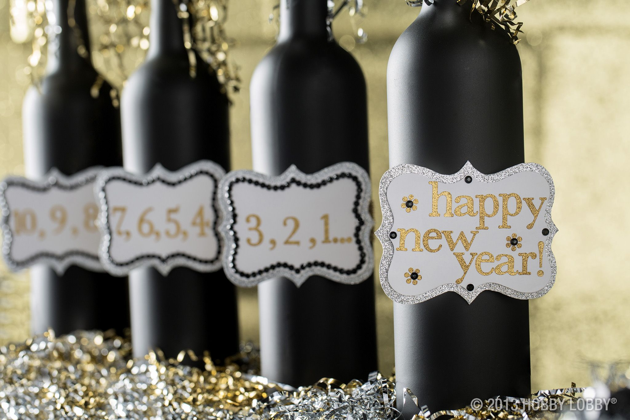 Upcycle bottles into fabulous DIY New Year's decor with ...