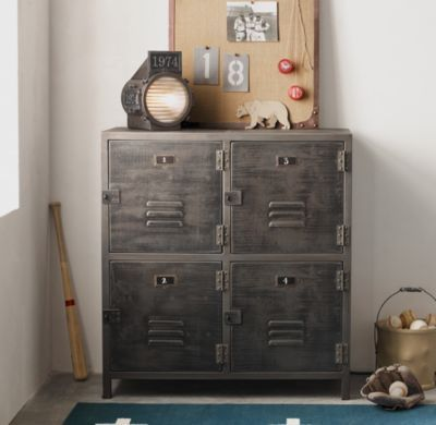 RH Babyu0026childu0027s Vintage Locker Cabinet:As Sturdy As The All American  Originals That Inspired It, The Vintage Locker Collection Has Authentic  Details Like ...