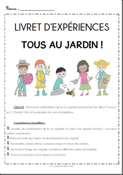 Projet tous au jardin ddm cr er langage cycle 1 for Le jardin voyageur maternelle