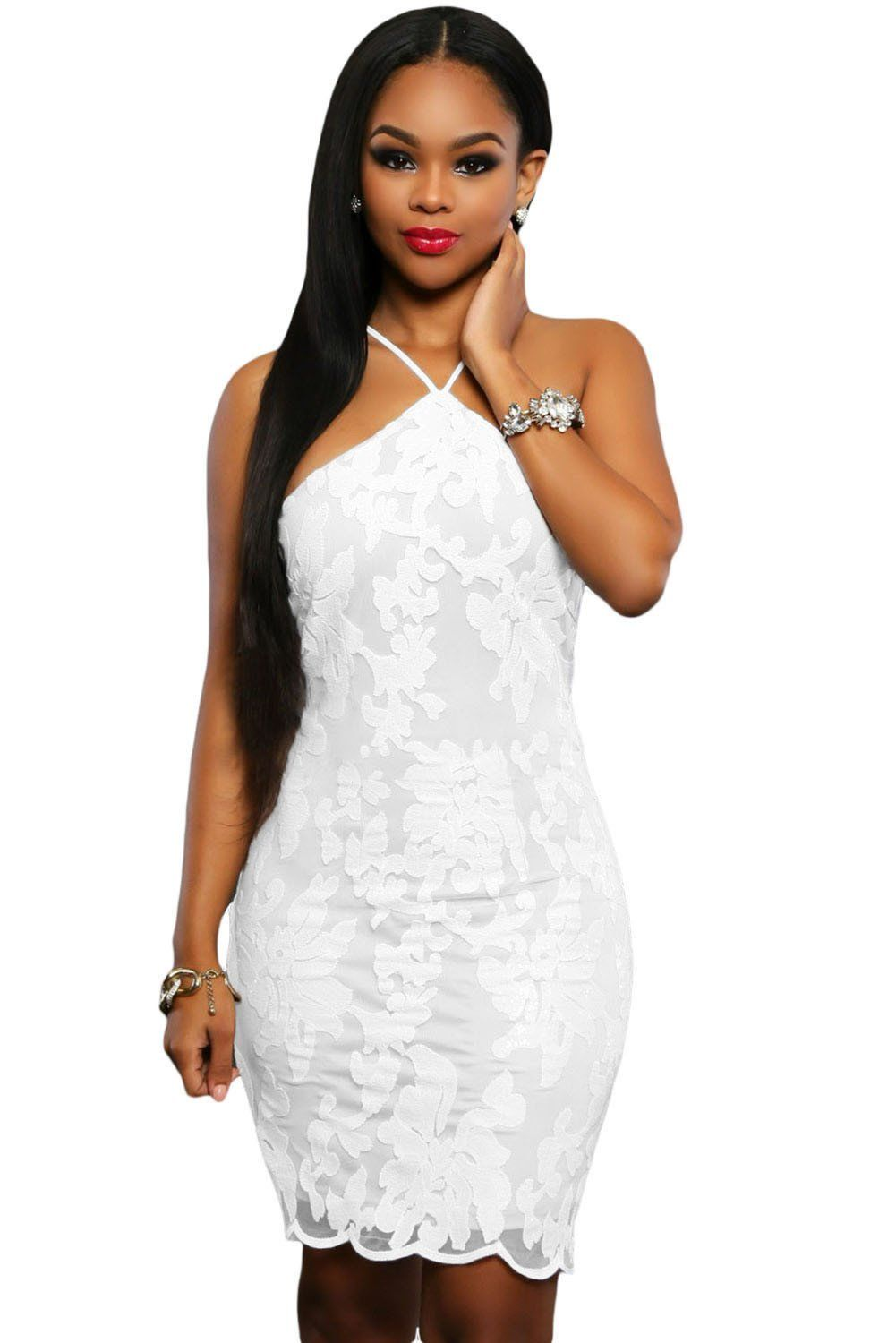 White Lace Floral Luxe Party Dress ChicLike.com #White   WOMEN\'S ...