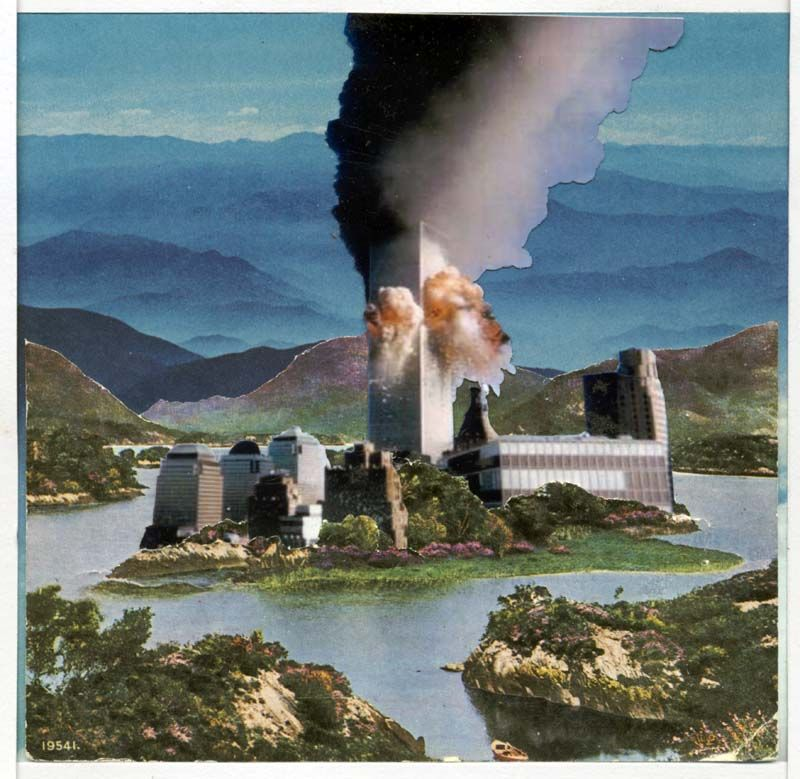 Sean Hillen, Evidence Of Controlled Demolition At The Upper Lake, Killarney, 2007. To be used as an example of photomontage in the Photomontage lesson.