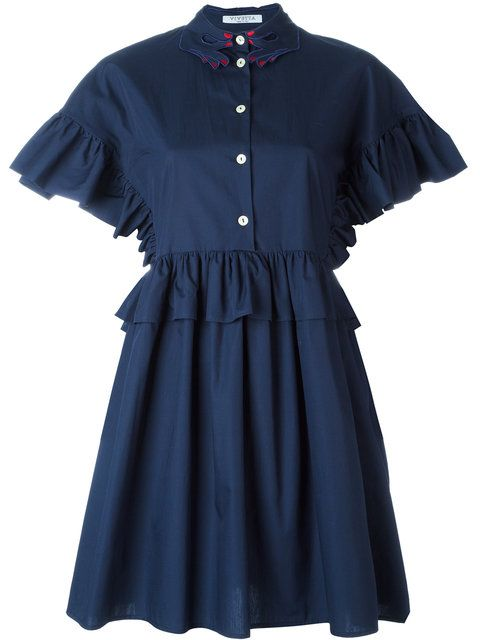 pleated shirt dress - Blue Vivetta Free Shipping Release Dates Sale 2018 Newest yR7HPymhP4