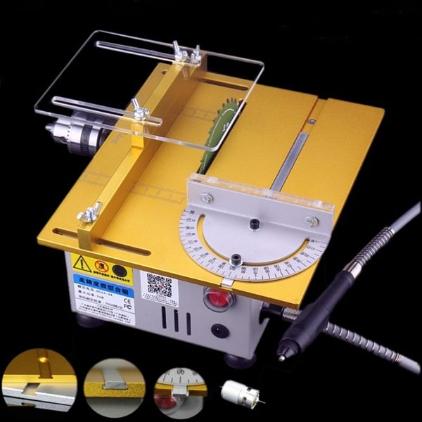 Raitool T5 Mini Precision Table Saw Diy Woodworking Lathe Polisher Drilling Machine Dc 12 24v Power Tools From Tools On Banggood Com Diy Woodworking Woodworking Woodworking Tools