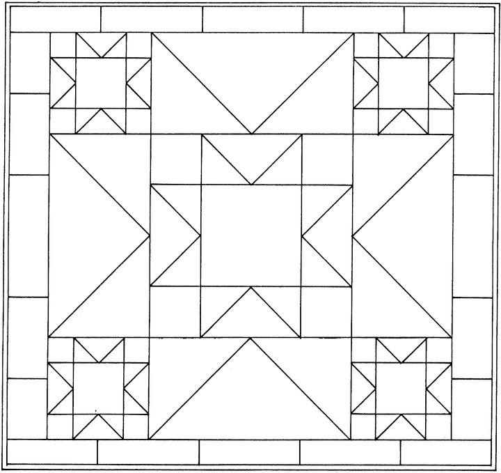 Best Photos Of Geometric Shapes To Color Coloring Free Page Clip Art Library In 2020 Barn Quilt Patterns Barn Quilt Designs Painted Barn Quilts
