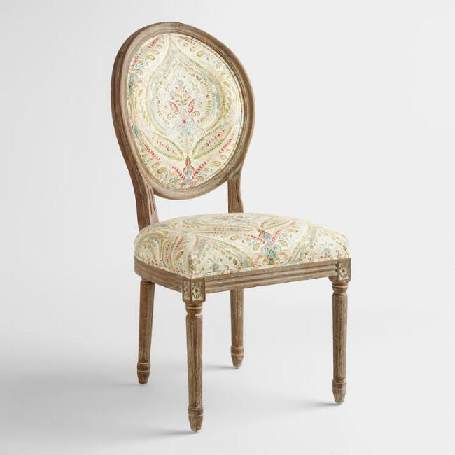Ogee Paisley Paige Round Back Dining Chairs, Set of 2 - v1