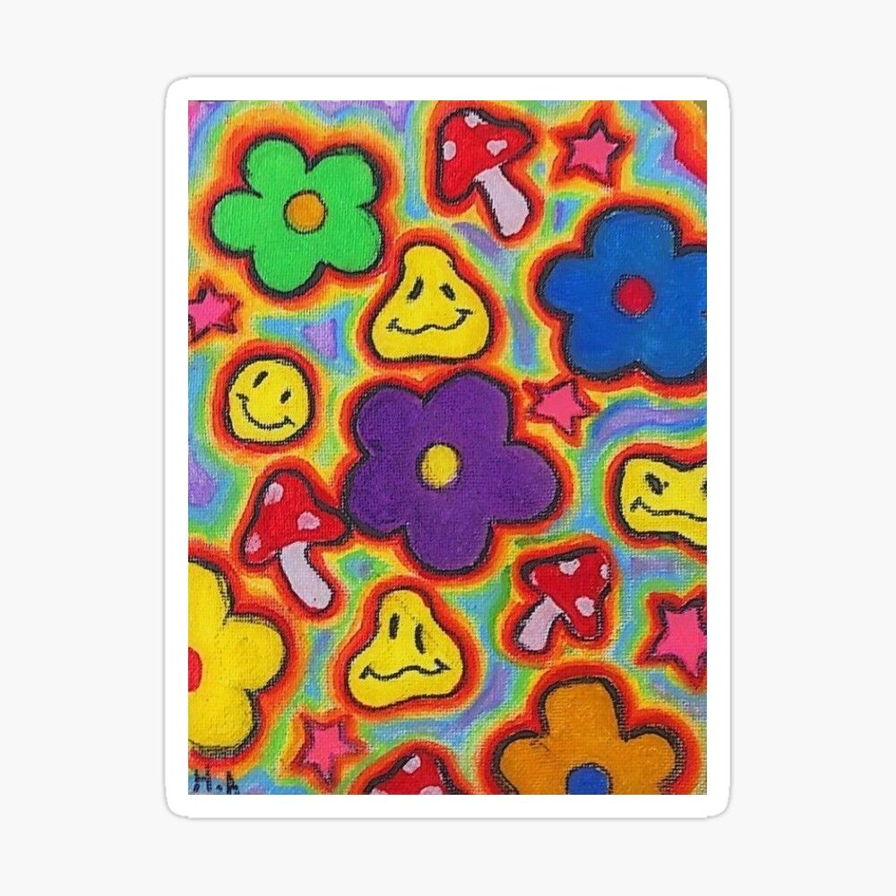 Indie Aesthetic Sticker By Eazziee24 Small Canvas Art Mini Canvas Art Diy Canvas Art Painting