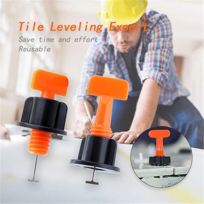 Premium Reusable Tile Leveling System Set Of 50 Inhomepi
