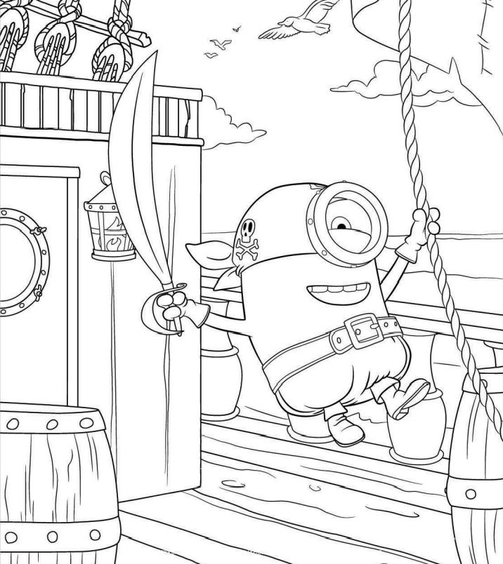 Coloriage minion à imprimer 7 | coloriage | Pinterest