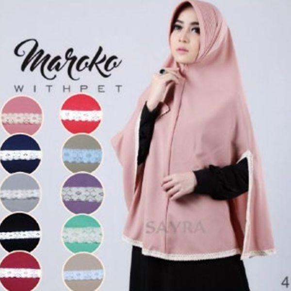 Jilbab Instan Maroko Withpet Model Terbaru Jilbab Syari Dengan Pet