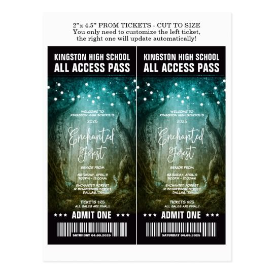 Prom Ticket Template Gallery - Template Design Ideas