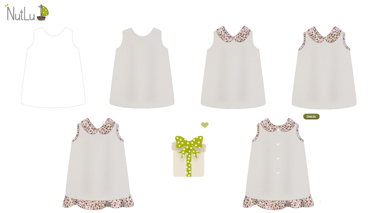 Mira como se va haciendo paso por paso este precioso vestido primaveral :) > http://nutlu.com/vestido-pique-grande-y-viella-marron-rosa #ropabebe #regalooriginal #modainfantil #vestidonina
