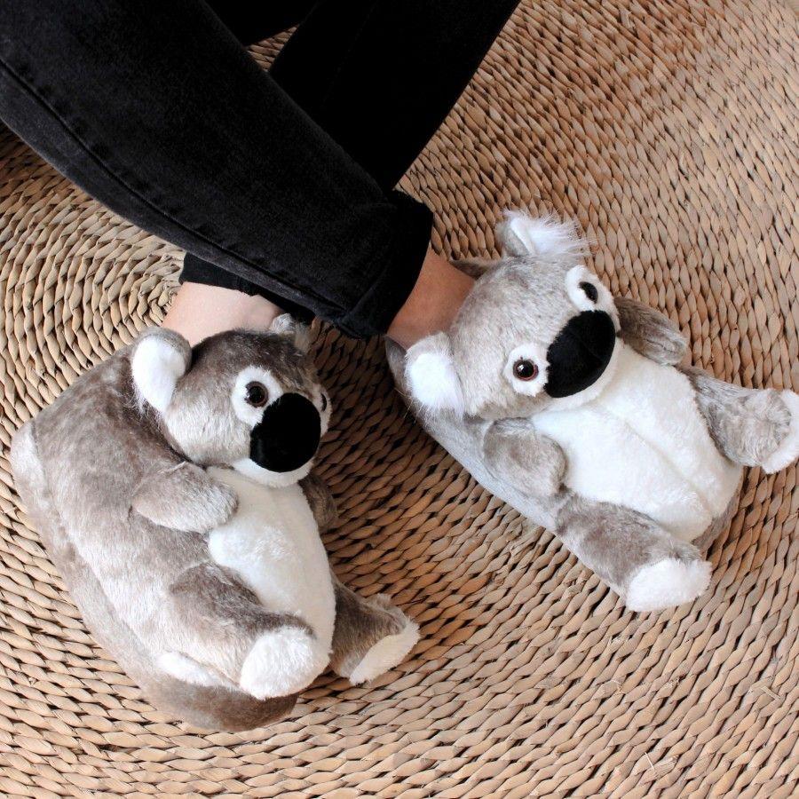 Zapatillas De Estar Por Casa Animales Koala Para Hombre Mujer Y Niño Sleeper Z Pantuflas De Peluche Koala Zapatos De Bebé De Ganchillo