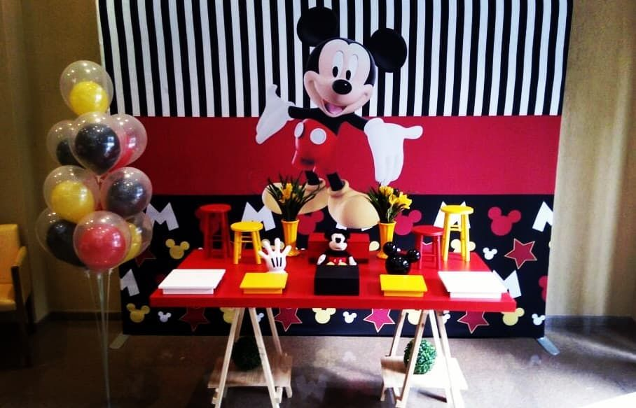 Mickey Decoracao Mickey Party Mickey Painel Sublimado Hora Da