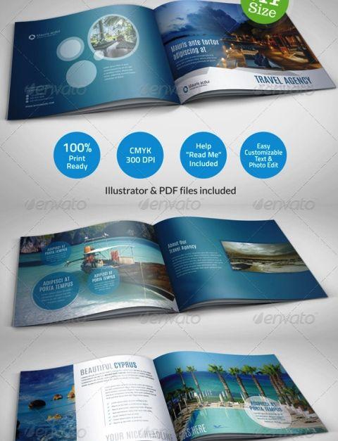 Brosur Tour dan Travel - Travel Agency Brochure Catalog Template - azure flyer template