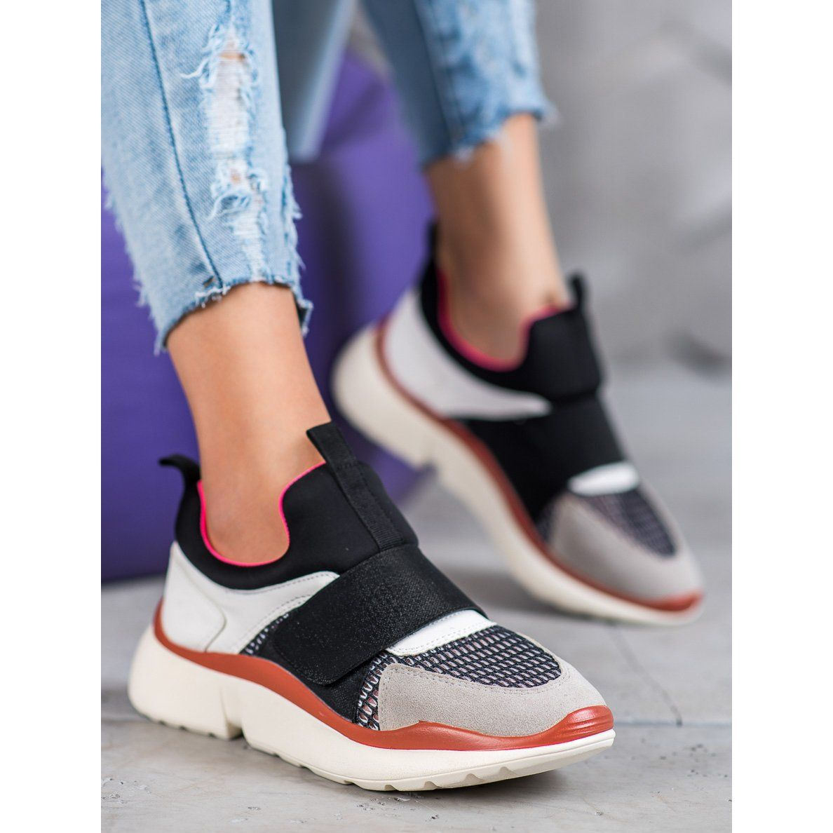 Sweet Shoes Lekkie Buty Sportowe Na Rzep Wielokolorowe Sneakers Shoes Balenciaga