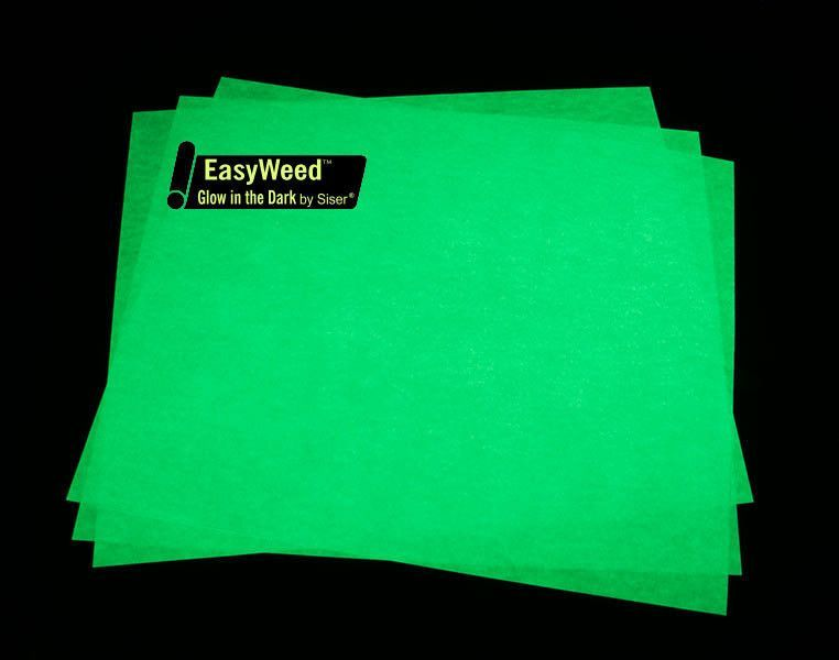 Siser Easyweed Glow In The Dark Htv 12x15 Sheet Heat Transfer Vinyl Halloween Htv Glow In The Dark Heat Transfer Vinyl Iron On Vinyl Iron On Vinyl Glow In The Dark