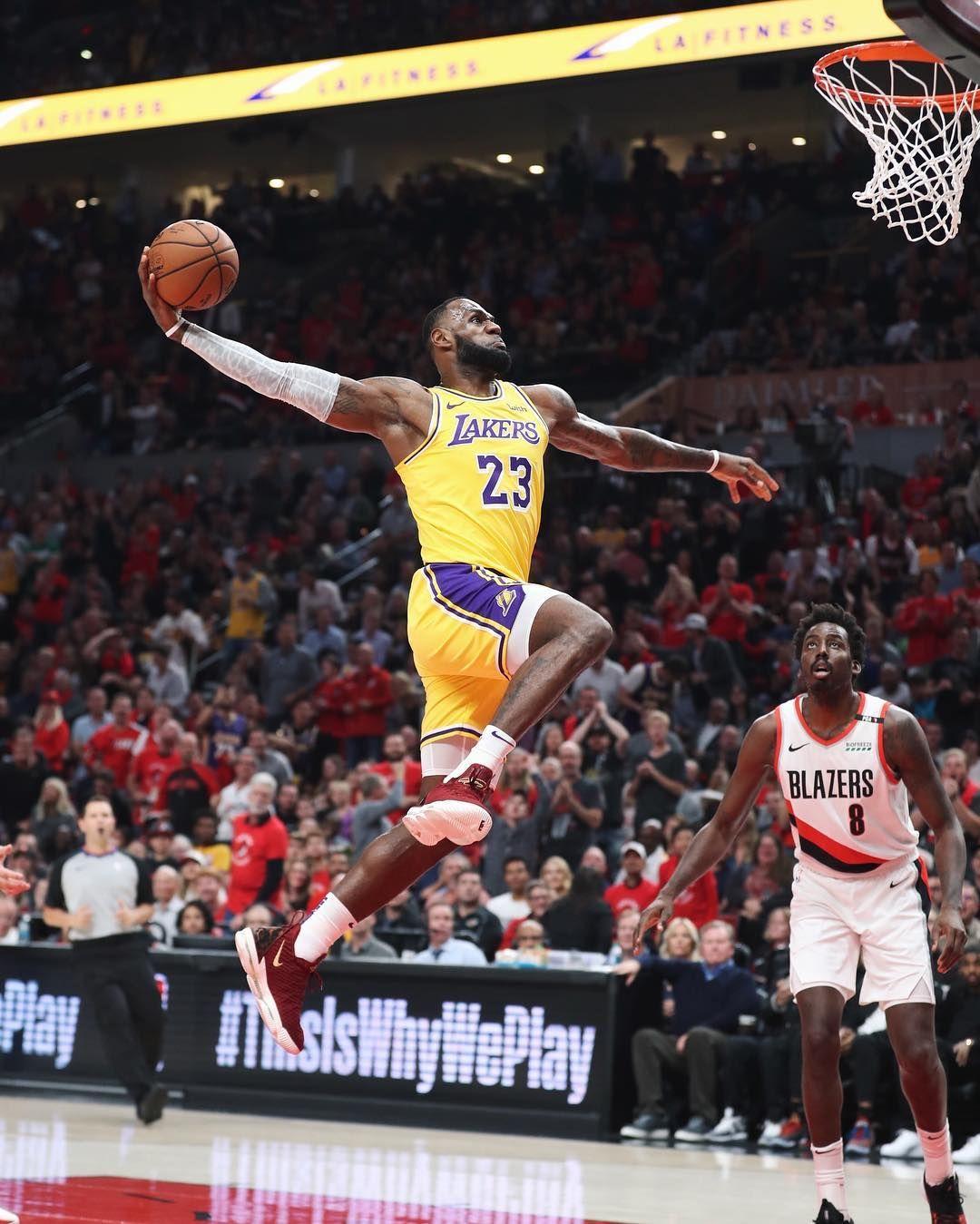 "purchase cheap 6d7d4 b982b KingJames throws down in the ""King"" Nike LeBron 16. A new ..."