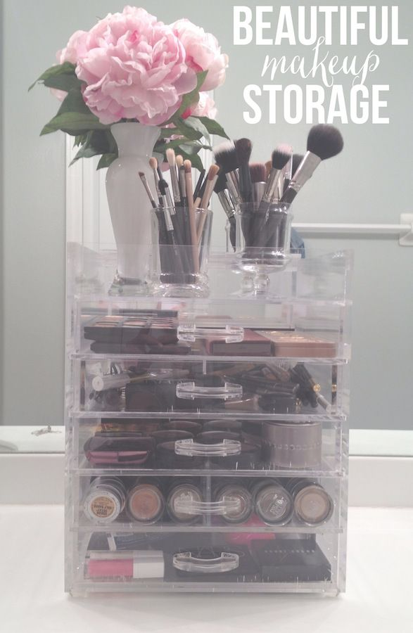Think I need to invest in some drawers for my makeup! & Acrylic Makeup Storage (Ivory and Olive) | Pinterest | Makeup ...