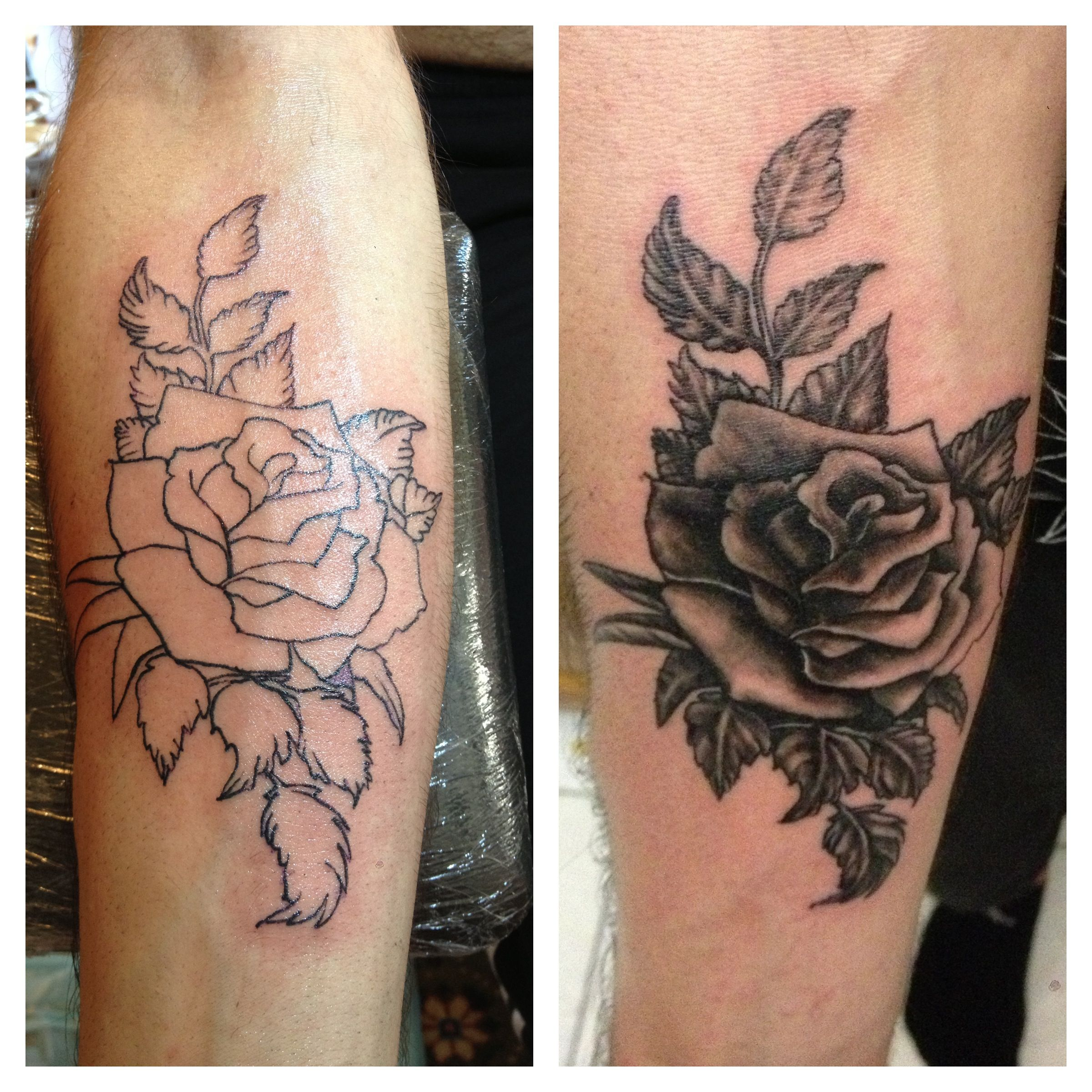 Tattoo Art Black And White: Black And White Rose Tattoo